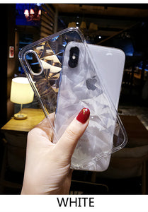 transparent soft silicone back cover phone case