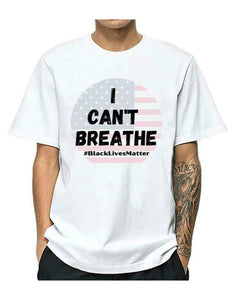 'I can't breathe' printed protest men t-shirt