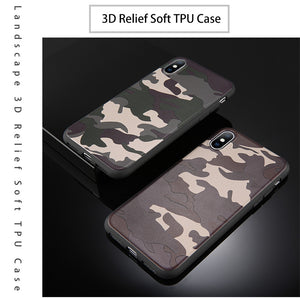army green camouflage back cover phone case