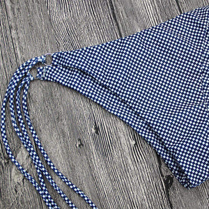 Gingham Side Tie-up 2 Pieces Bikini Set