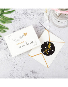 business best wishes gold stamping thank you card