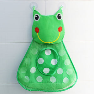 baby shower bath toys storage mesh with strong suction cups toy bag