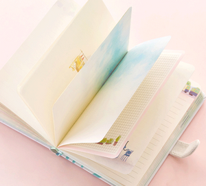 fashion colored inner page magnetic button hardback notebook