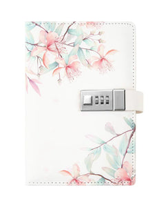 calla & plum blossom password leather notebook
