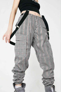 high waisted chic cargo pants overalls