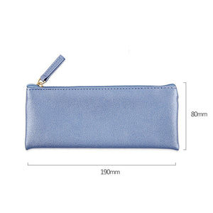 simple pure color makeup bag pencil case