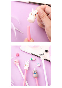 cartoon silicone quick drying neutral pen