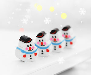 cute four christmas eraser set