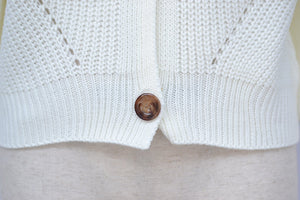 solid color deep v buttons leisure sweater cardigan