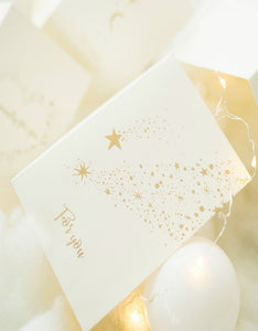 dream star moon gold stamping christmas card