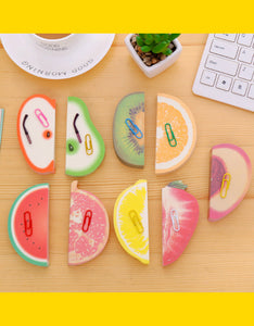 various fruit shape sticker note
