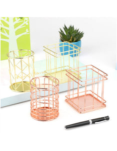 hollow out iron art simple pencil holder