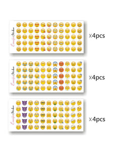mini funny emoji sticker set