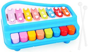 educational toy car knock bus hand piano car
