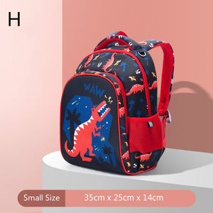 cute cartoon zoo students backpack school bag