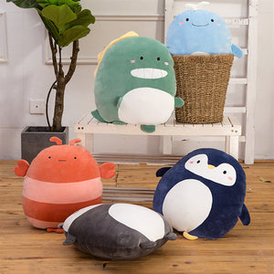 cute chubby cartoon animal soft pillow stuffed toys