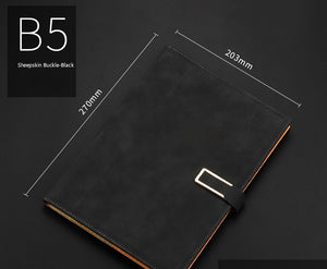 simple A5/B5 thickened leather notebook