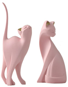 creative pink yoga cat desktop decoration