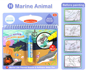 magic water drawing coloring doodle & magic pen painting drawing book