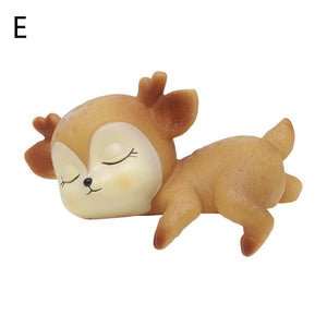 sleeping baby deer kids gift desktop decoration