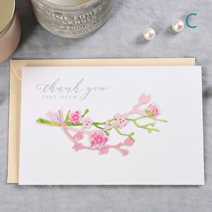 creative manual three-dimensional thank you card