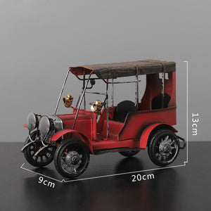 vintage classic car iron art desktop decoration