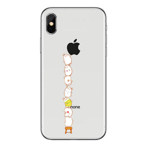 cute dinosaur&cats printed soft phone case