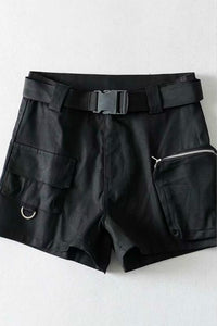 street chic solid color cargo shorts
