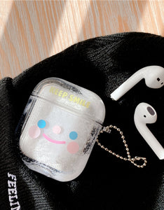 snowman designs transparent AirPods protector case