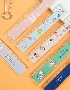 cute pattern 15cm/20cm with wave ruler set