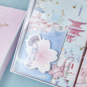 cute hand account color inside pages hardback notebook set