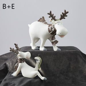 nordic style white deer series wedding gift desktop decoration