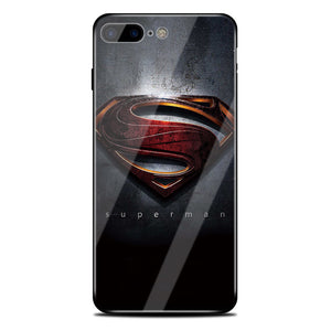 marvel spiderman captain america superman glass cover phone case