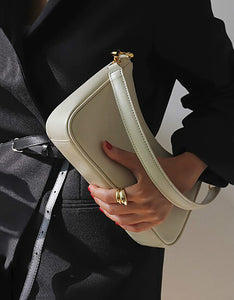 simple solid color chain shoulder bag
