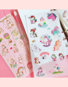cartoon unicorn hand account decoration sticker set