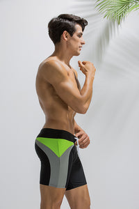 high resilience color blocking swimwear