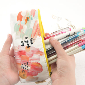 lovely large capacity forest element pencil case