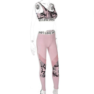 LOVE Letters Camouflage Sports 2 Pieces Set