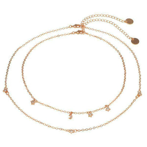 Little Stars Moon Multi-layer Necklace Set