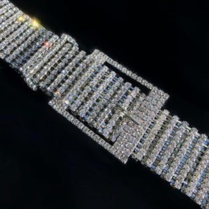 super glitter blingbiling rhinestones studed belt