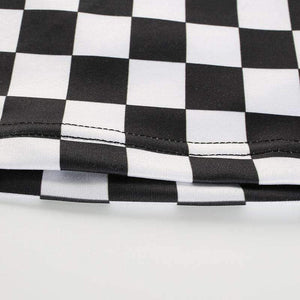 Black and White Checker Cool Crop Top