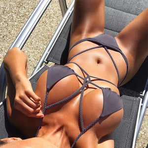 Sexy Wrapped Bandage 2 Pieces Bikini Set
