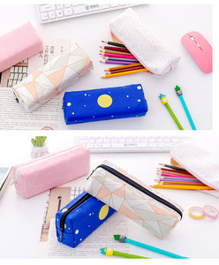 lovely multi-functional large capacity canvas pencil case