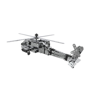 apache attack helicopter  alloy building block puzzle toy