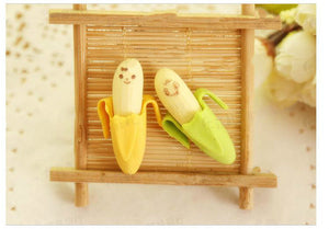 cartoon banana eraser set