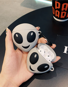 luminous alien shaped silicone AirPods protector case