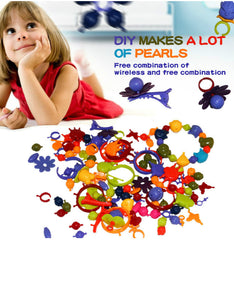 diy colorful beads girls necklace bracelet handmade string bead making toy