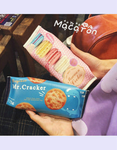simulated cookie package PU cover pencil case