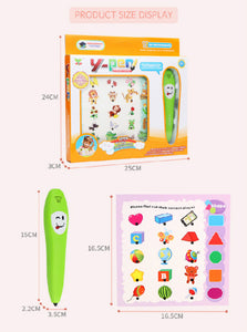 smart language learning reading pen puzzle cards set