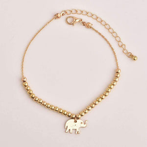 three-layers stars and elephant pendant anklet